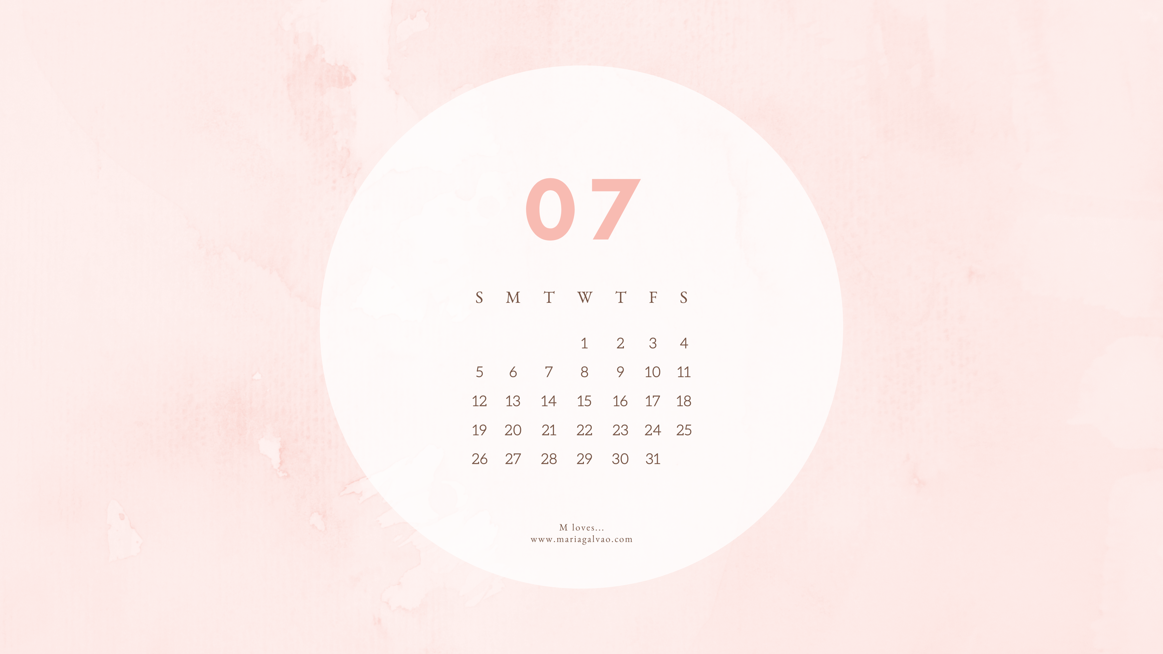 Free July Calendars And Wallpapers For Desktop And Cellphone M Loves Home